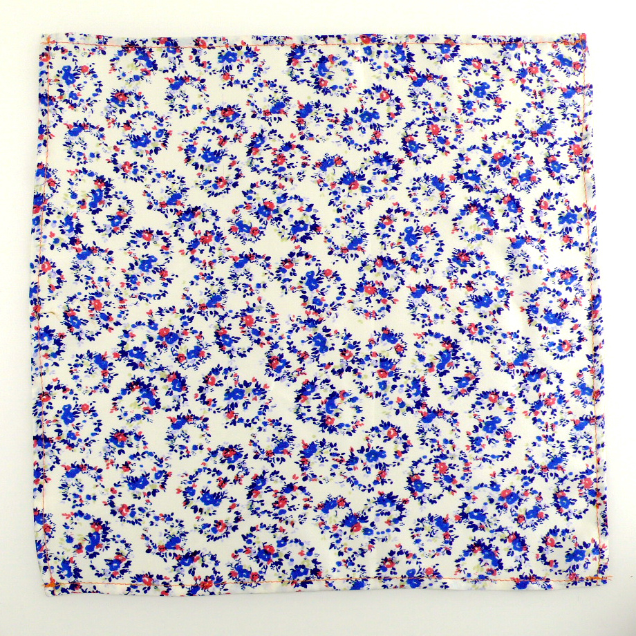 pocket square kiss blue