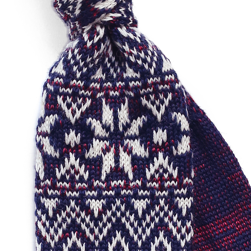 Fair-Isle-Wool-Knit-Tie-Zoom
