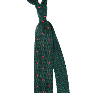 Dotted-Knit-Tie-Green