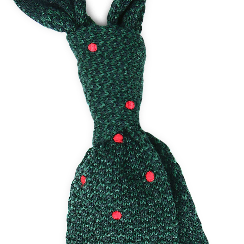 Dotted-Knit-Tie-Green-Knot