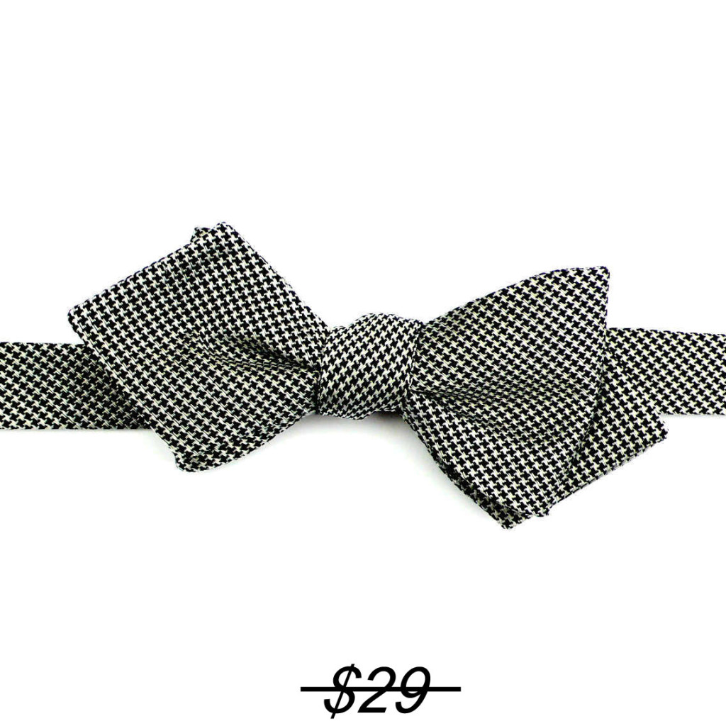 self bow tie black/white