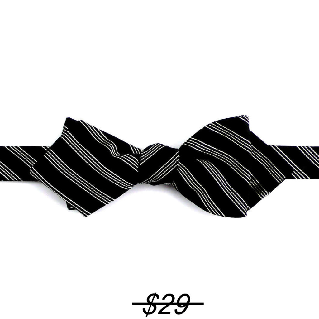 self bow striped black/white