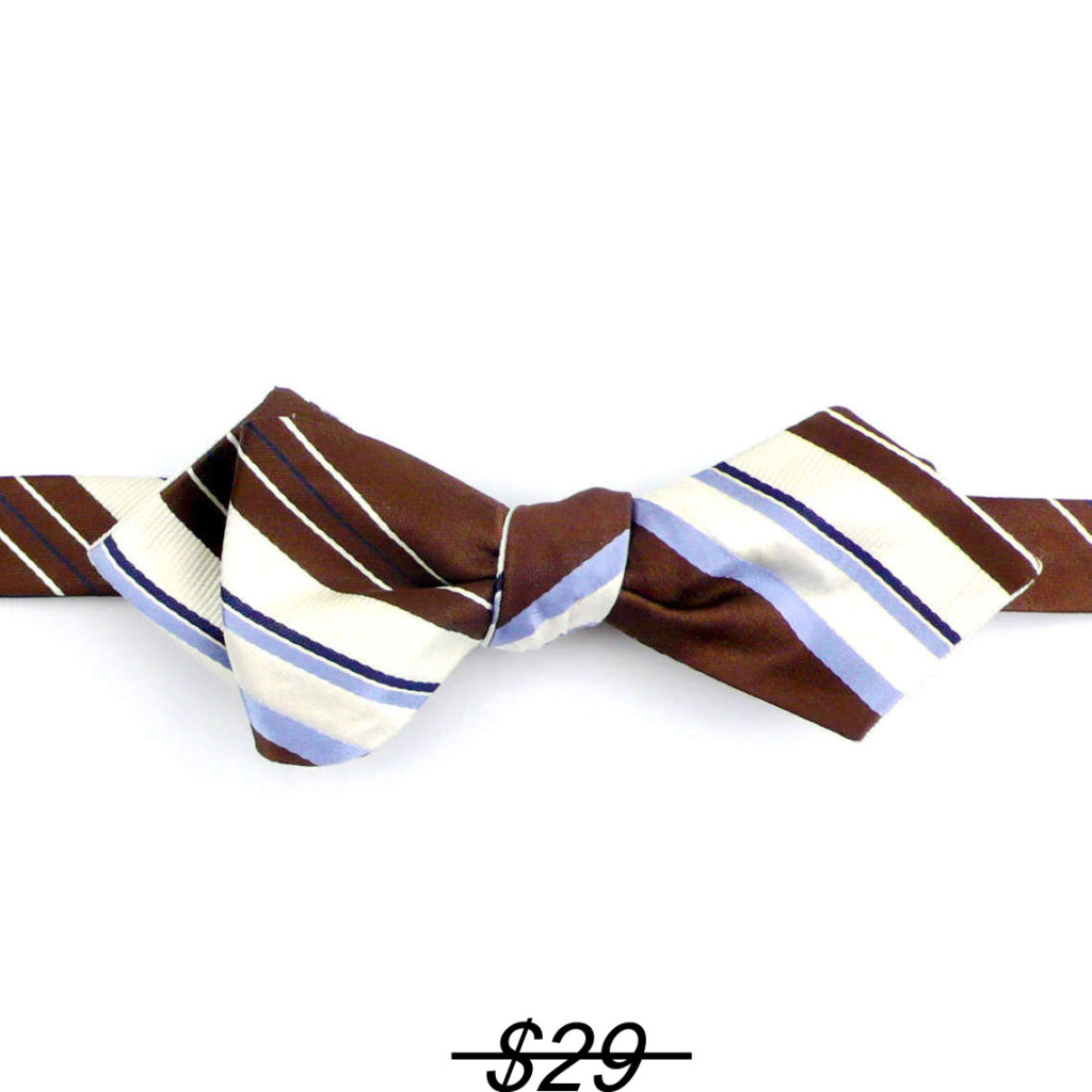 self bow striped brown/white/blue