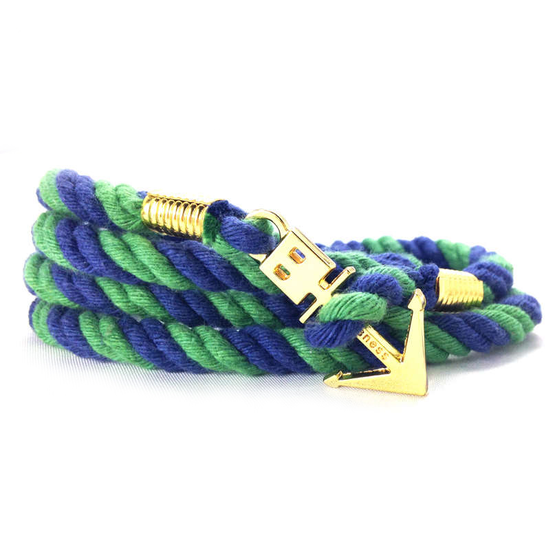 anchor bracelet navy/green