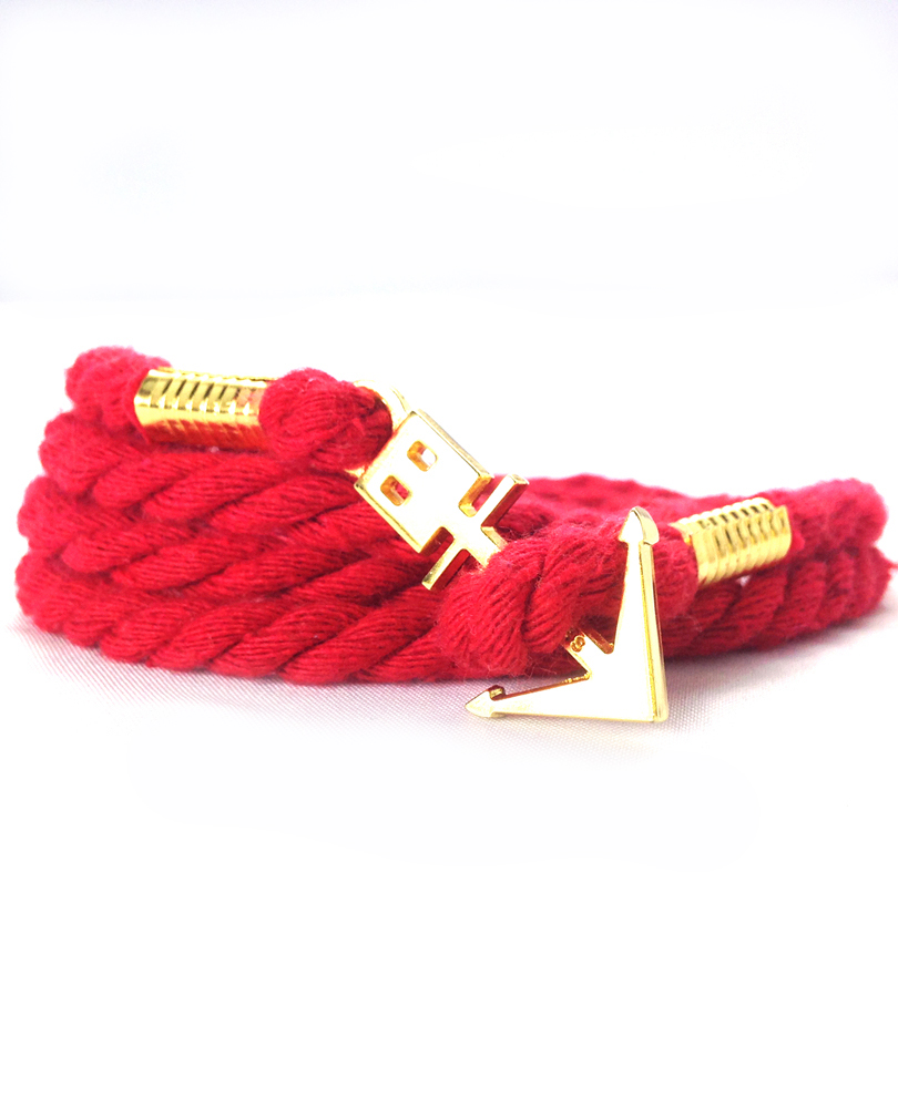 anchor bracelet  red