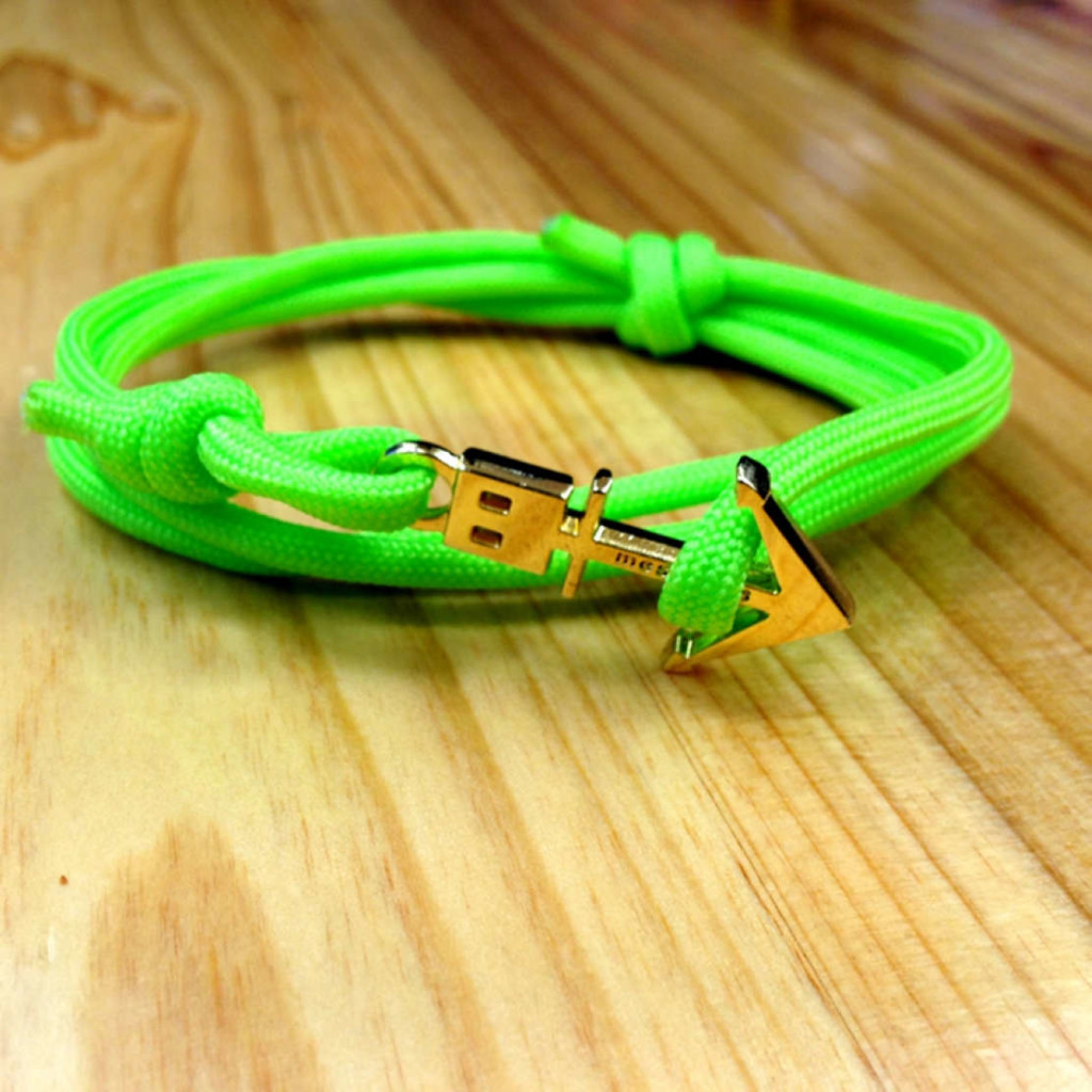 bracelet rainbow bright green